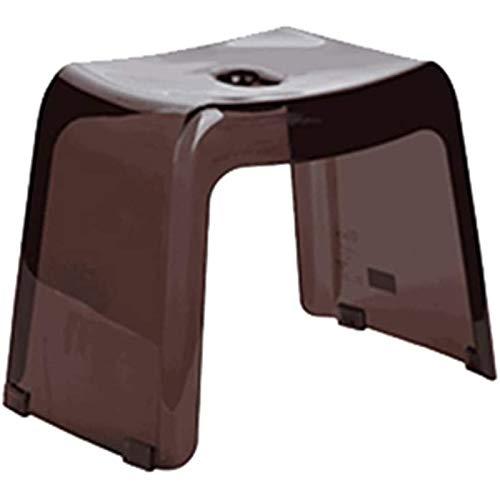 Qazxsw Taburete de plástico para el hogar/Grueso Adulto y niño bajo Taburete/baño Taburete Antideslizante/de baño Taburete/diseño de Fugas/Antideslizante,Marrón