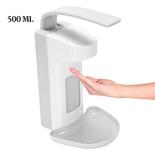 Sunnykud Seifenspender 500 ml/1000 ml Wandseifenspender Desinfektionsmittel Spender Desinfektionsmittelspender Kunststoff Armhebelspender mit Tropfschale