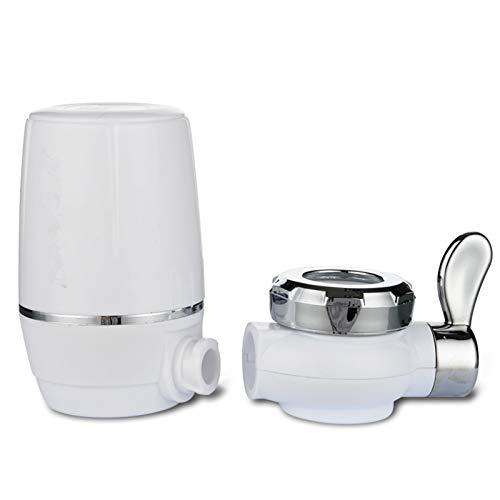 AKlamater Wasserfilter für Wasserhahn, Wasserfilter, effizient und spritzwassergeschützt, für Zuhause, Küche, gesunde Wasserhahn, Halterung für Standard-Wasserhahn (#1)
