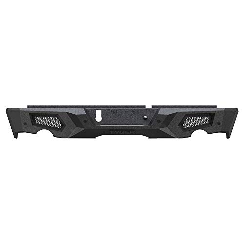 Tyger Auto TG-BP9D80398 Tyger Fury Rear Bumper Assembly Textured Black Compatible with 2009-2018 Dodge Ram 1500; 2019-2021 Classic
