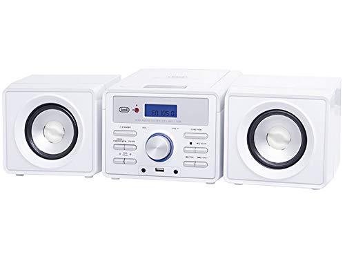 Trevi HCX 1030 - Stereo compatto Mini Sistema HiFi, CD, USB, Aux In, Bianco