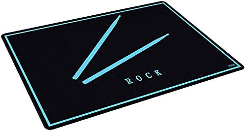 NYDD Drum Teppich Schlagzeug Teppich Schallschutz Schallschutzmatte | rutschfeste Trommel Teppiche Quadratische Schallschutzdecke | Professioneller Schlagzeugteppich (160CM×120CM)
