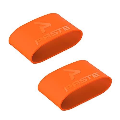 Sujeta espinilleras de silicona PASTE ® de fútbol para hombres