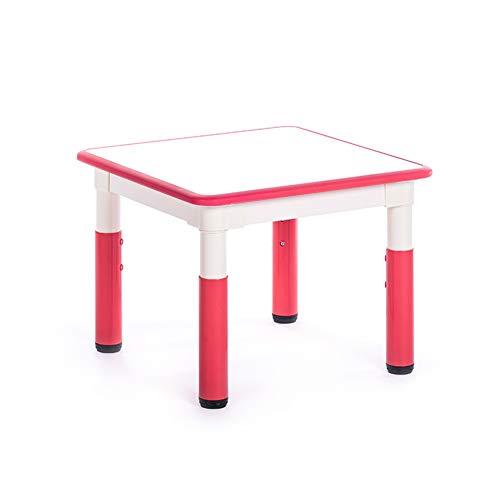 ZHAOHUI-Ensembles Table et Chaise pour Enfants Jardin Table d'enfant Chaises Apprendre La Peinture en Train De Lire Ménage Hauteur Réglable, 6 Couleurs (Color : Red-A)