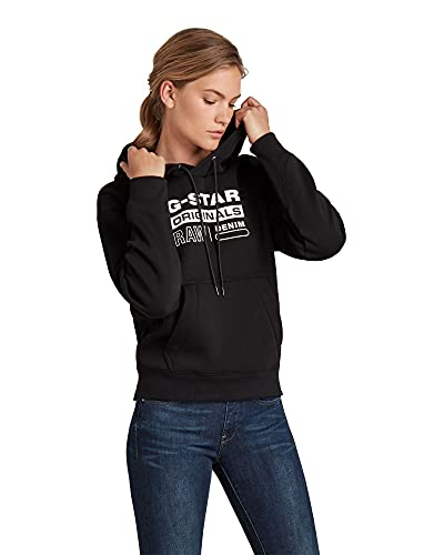G-STAR RAW Premium Core Originals Logo Maglia di Tuta, Nero (Dk Black C235-6484), M Donna