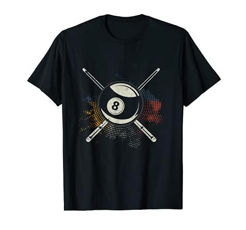Queue de billard colorée Pool 8 Ball Billard T-Shirt