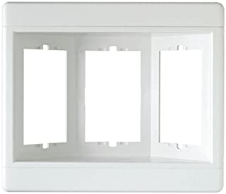 Legrand-Pass & Seymour TV3WW 3-Gang Recessed TV Box (Frame Only), White