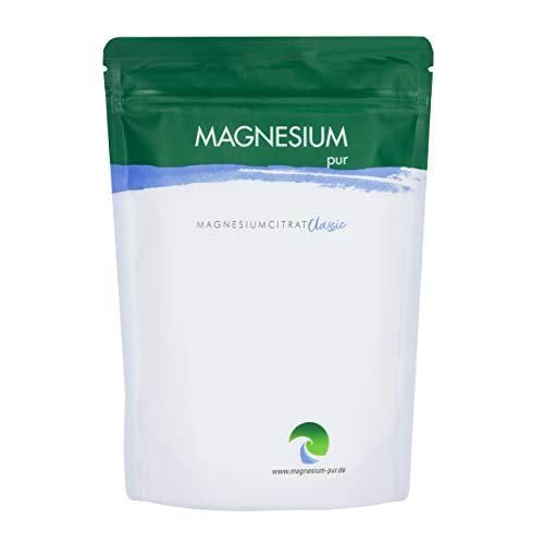 Magnesium-Pur Pulver 500g Nachfüllbeutel pures Magnesiumcitrat Pulver, hoch bioverfügbar, vegan, ohne Zusätze