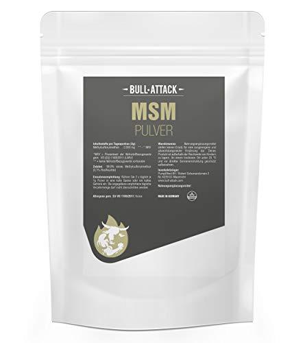 MSM PULVER 1kg | Methylsulfonylmethan | 99,9% Reinheit - organischer Schwefel | Ohne Zusatzstoffe | auch für Haustiere geeignet (Pferd, Hund, Katze etc ) LABORGEPRÜFTE QUALITÄT!