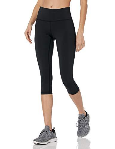 Amazon Essentials Legging Fitness Capri per Ogni Giorno Leggings, Nero, M