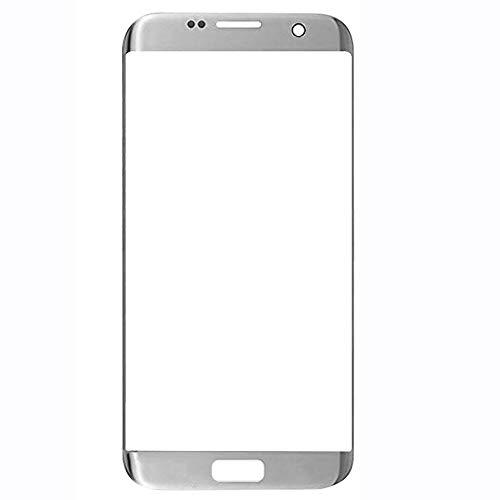 UU FIX Pantalla Cristal Frontal para Samsung Galaxy S7 Edge (Plata) LCD Touch Screen Frontal Cristal Replacment con Juego de la Herramientas