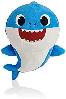 Soft dolls Baby Cartoon Shark Toys with Music Cute Animal Plush Baby Toy Shark dolls Singing English Song for Gift Childre...