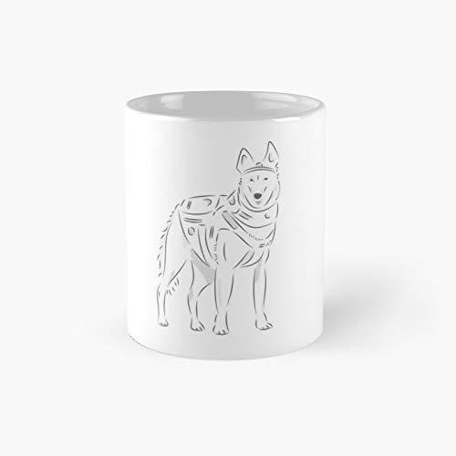 Taza clsica de perro polica | El mejor regalo divertidas tazas de caf de 325 ml