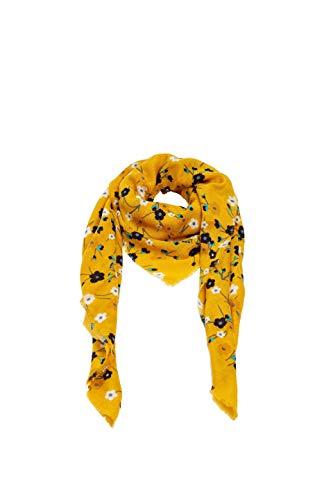 ESPRIT edc by Accessoires Damen 099Ca1Q008 Schal, Gelb (Honey Yellow 710), One Size (Herstellergröße: 1SIZE)