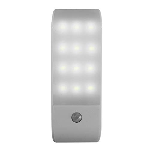 12 LED PIR Infrarossi Stick-on Guardaroba Night Light Rilevatore di Movimento USB 5V Bianco