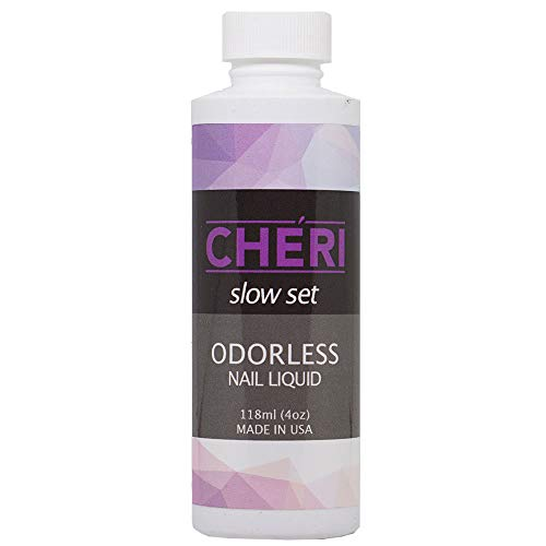 CHERI - ODORLESS - NAIL LIQUID MONOMER - MADE IN THE USA (8 OZ)