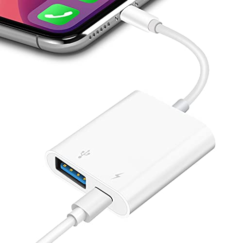 TRYVAT USB Camera Adapter with Fast Charging Port, Portable OTG Cable Adapter Compatible with iPhone, iPad, Card Reader, USB Flash Drive, Keyboard and Mouse