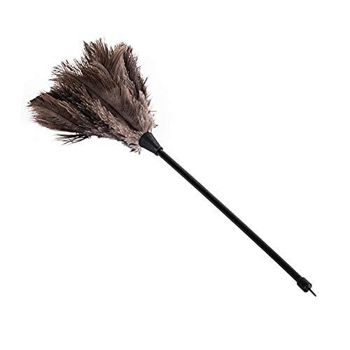 Struisvogelveer, plumeau voor stof, mini plug, soft delicate comfortable touch plumeau 34 cm.