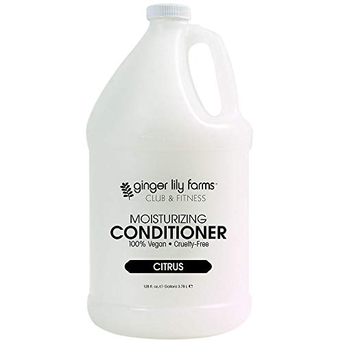 Ginger Lily Farms Club & Fitness Citrus Moisturizing Conditioner, 100% Vegan, Paraben, Sulfate, Phosphate, Gluten & Cruelty-Free, 1 Gallon