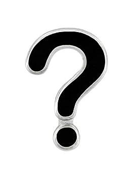 PinMart Question Mark Punctuation Symbol Enamel Lapel Pin