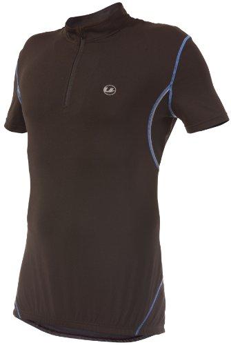 Ultrasport Herren Fahrradshirt mit Reißverschluß, black victoriablue, L, 10223
