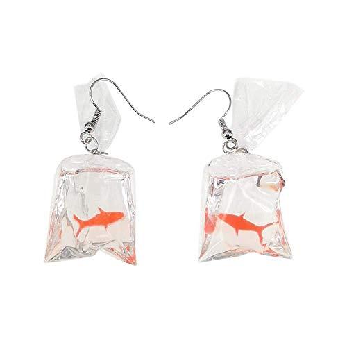 Pendientes Aretes Hechos A Mano Personalizada Bolsa De Agua Calamares Aretes Gracioso Temperamento Aretes Simples Accesorios Femeninos