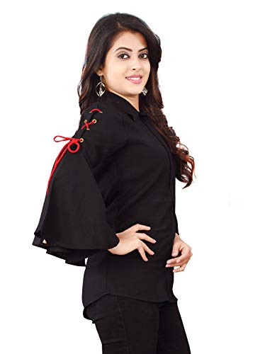 Leriya Fashion Offers All Kinds of Tops for Both Women and Girls + Women's Plain Regular fit Wear (LF-W1157-M_Red_Medium)