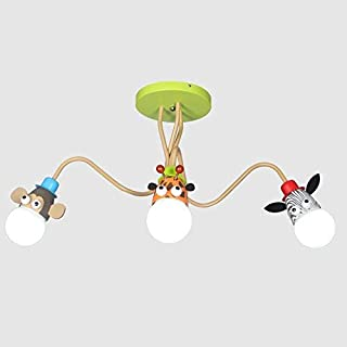 Chandelier A Good Friend of Children's Creative Animal Ceiling Chandeliers Wall lamp LED Children Kindergarten Eye