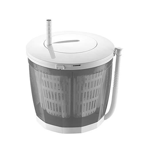 LPGY draagbare eco-wasmachine, grote 2-liter capaciteit, schoon, spoelen en centrifugeren voor campingwoningen of studentenhuisvesting (grijs, blauw, roze)