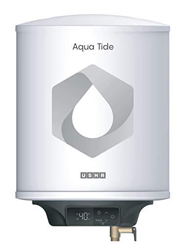 Usha Aqua Tide 15 Litre 5 Star Digital Storage Water Heater (White)