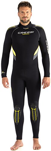 Cressi CASTORO, Muta Sub in Neoprene High Stretch 5mm da Immersione Subacquea, Giallo