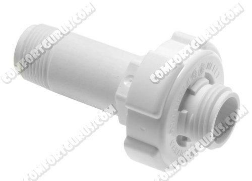 Rheem SP12159C Water Heater Round Poly Drain Valve w/Concentric Handle - 3-3/4' Length