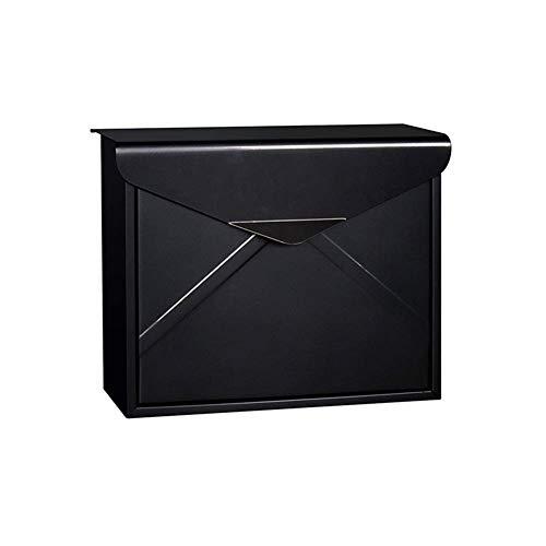 TZSMXX Mailbox Letter Box European Newspaper Box Villa Haus Wand-Mailbox im Freien Garten Einfache Post Box, mehr Farben zur Auswahl (Farbe : Schwarz)