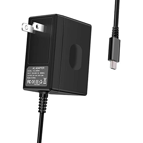 Switch Charger for Nintendo Switch - Type-C AC Adapter Fast Charging Portable Charger 15V/2.6A (Support TV Mode) Power Supply with 5 FT Thicken Cord (Renewed)