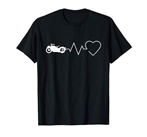 Moto Custom, Latido de corazon, Motocicleta Motorista Camiseta
