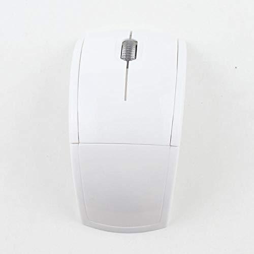 2.4G draadloze vouwmuis optische muis, Kleur: wit
