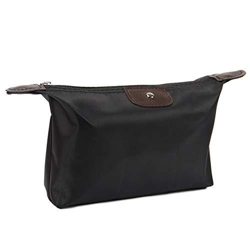 1PC Multifunction Makeup Bag Women Cosmetic Bags Organizer Box Ladies Handbag Nylon Travel Storage Bags Wash Bag 5 Colour Black