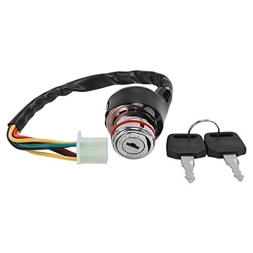 Bloqueo del interruptor de encendido, interruptor de encendido de 9 orificios, 6 cables con 2 llaves aptas para ATV Go Kart chino de 50 cc a 125 cc