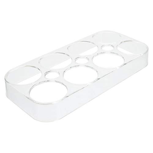 YARNOW Bandeja de Huevos de Cocina de Plástico Transparente Refrigerador Portador de Huevos Bandeja Dispensadora de Huevos Contenedor de Almacenamiento de Huevos Soporte 8 Rejillas