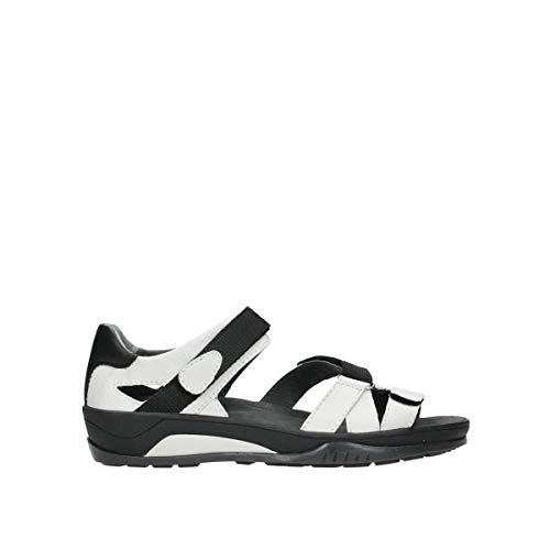 Wolky Damen Sandale, Weiß(offwhite), 40 EU