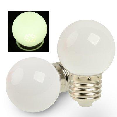 LED-lamp E27 0,75 W LED-bol stijl gloeilamp, 60LM, dag wit licht, AC 220 V (wit) LED-lamp