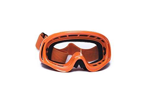 CRG Sports Motocross ATV Dirt Bike Off Road Racing Goggles ORANGE T815-3-6 T815-3-6 Transparent lens orange frame