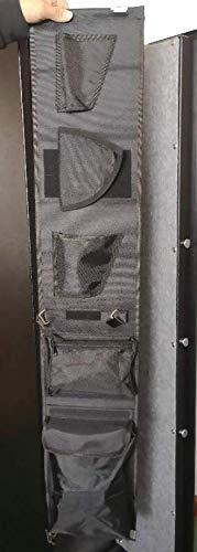 Moutec Gun Safe Organizer, Rifle Safe Door Panel Organizer for Holding Pistols and Documents -Black