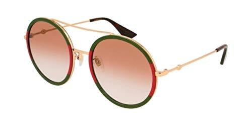 Gucci GG0061S-010 gafas de sol, Dorado, 56.0 para Mujer
