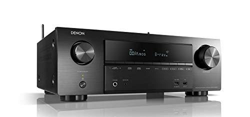 Denon AVR-X1600H 7.2-Kanal AV-Receiver, Hifi Verstärker, Alexa Kompatibel, 6 HDMI Eingänge, Bluetooth und WLAN, Musikstreaming, Dolby Atmos, AirPlay 2, HEOS Multiroom
