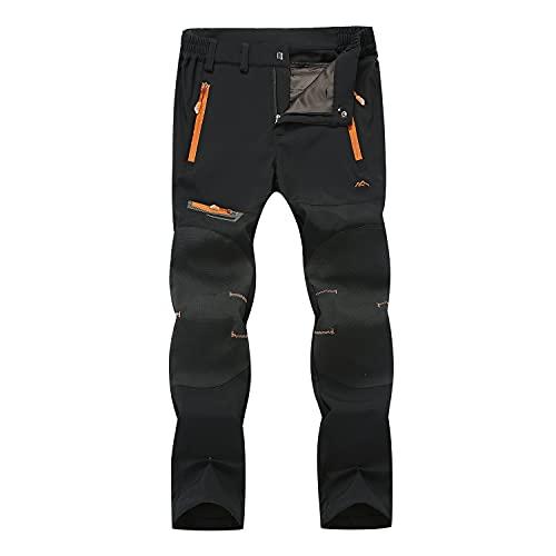 LUI SUI Pantalones para Caminar para Hombre Pantalones de Senderismo...