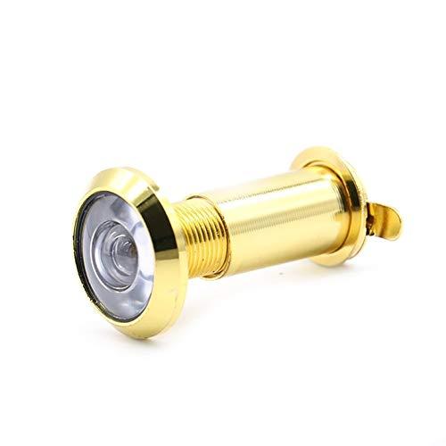 Latón 200 grados puerta del espectador 2pcs Gran Angular Mirilla de seguridad oculto ajustable de la puerta de cristal con la tapa de la lente for Hardware Herramienta