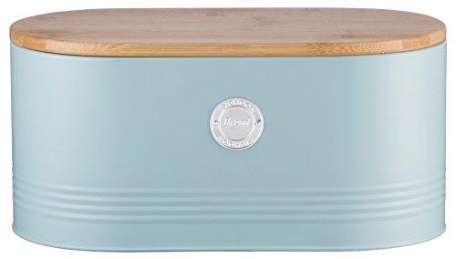 Typhoon Living Boîte à Pain, Acier, Bleu, 19.5 x 34 x 20.5 cm