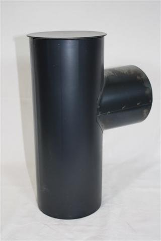 Rauchrohr, Ofenrohr Kapselknie gebläut 150 ø 0,6mm stark