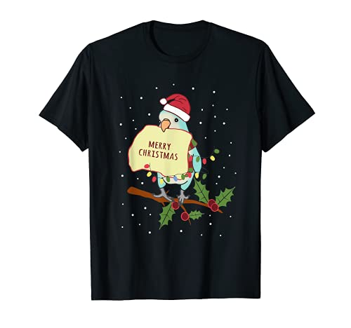 Feliz Navidad Blue Quaker Loro Propietario Birb memes Camiseta
